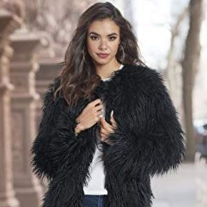 Xhilaration Shaggy Faux Fur Teddy Jacket